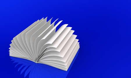 magazine stack: White Book on blue