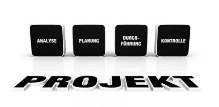Text concept - 3D Project Black 9 photo
