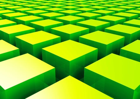 3D structure - Green Square 2 photo