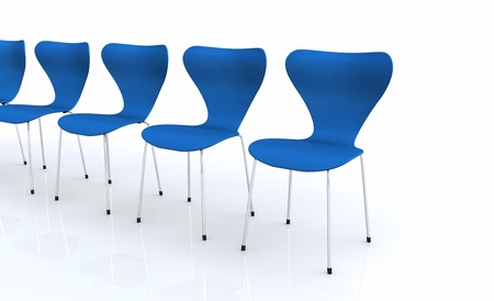 Designer chair set - Blue 02 Stock Photo - 14621097