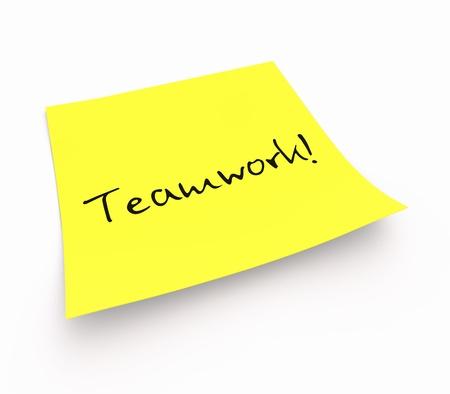 effectively: Sticky Notes - Teamwork Stock Photo