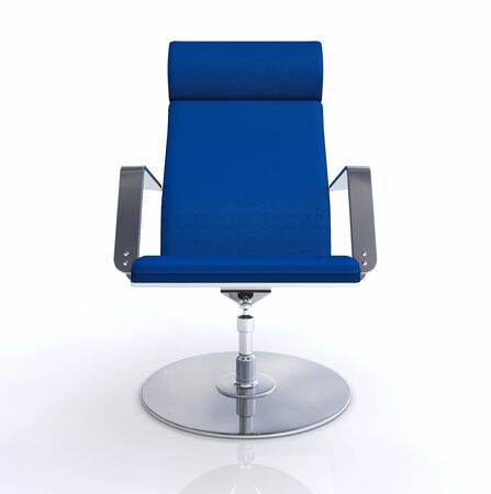 designer chair: Designer executive chair Blue Silver