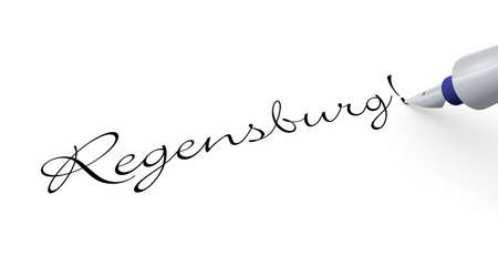 regensburg: Pen Concept - Regensburg Stock Photo