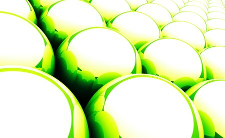 Green balls background reflection 05 Stock Photo - 14661266