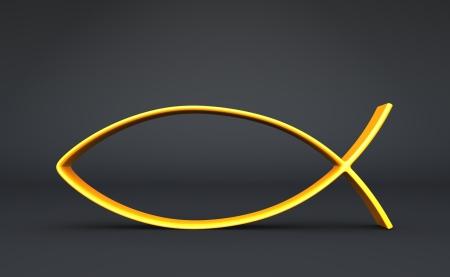 3d: Fish School 3D - Black Gold Banque d'images