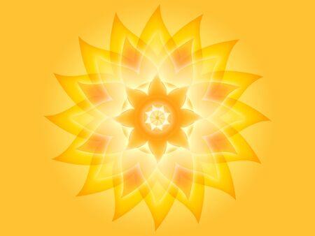 Mandala light yellow Stock Photo - 14688473