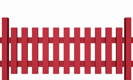 3D wooden fence - free red 03 photo
