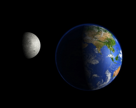 Planet and the moon - Asia photo