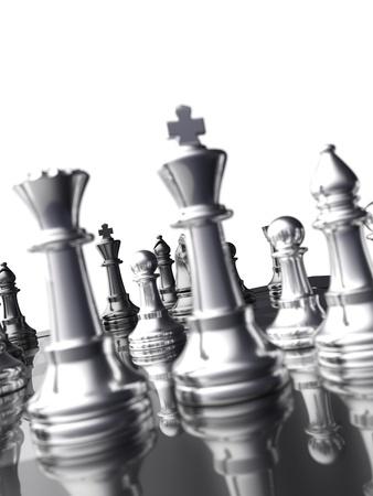 caballo de ajedrez: Tablero de ajedrez detalle en la luz de fondo 02 - aislado Foto de archivo