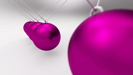 Newton pendulum pink gray 01 photo