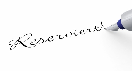 reserved: Pen Concept - Reserved Stock Photo