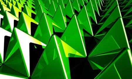 Background - Matrix Green 4 pyramids Stock Photo - 14693081