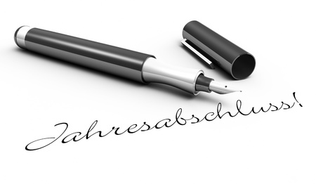 tax office: Financial Statements - pen concept Stock Photo