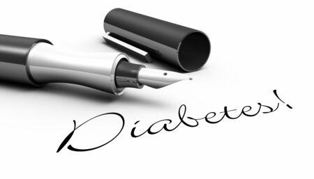 homeopathic: Diabetes - pen concept