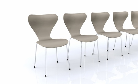 designer chair: Designer Chair Series - Silver Beige