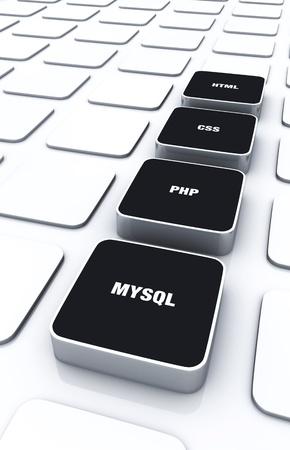 xhtml: 3D Designs Black - HTML CSS PHP MYSQL 9