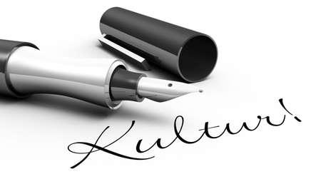 fountain pen writing: Culture - pin concept Stock Photo