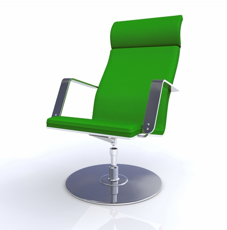 designer chair: 3D designer executive chair Silver Green