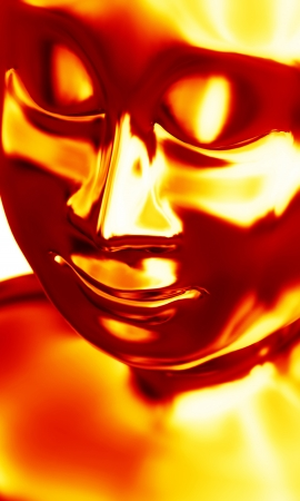 Face of the Buddha s Fire Stock Photo - 14688706