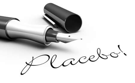 placebo: Placebo - pen concept Stock Photo