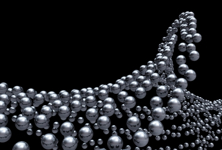 Chrome ball formation on black Stock Photo - 14688700