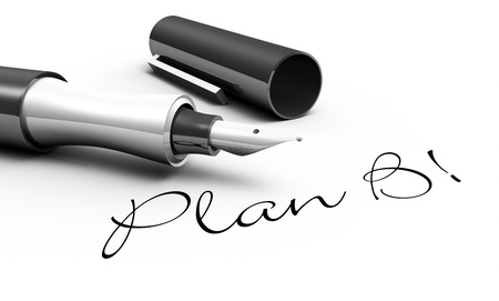 planing: Plan B - Male Concept Stock Photo