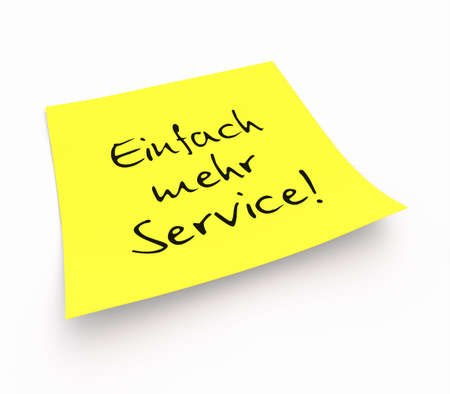 stickies: Stickies - Simply More Services Stock Photo
