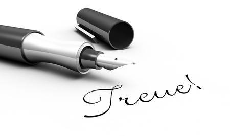 Loyalty - pen concept Stock Photo - 14688837