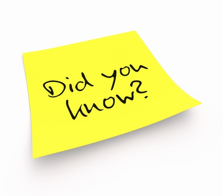 Stickies - Did you know