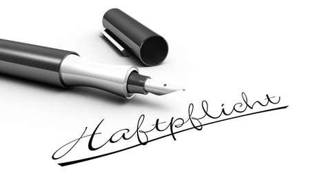 liability: Liability - pen concept