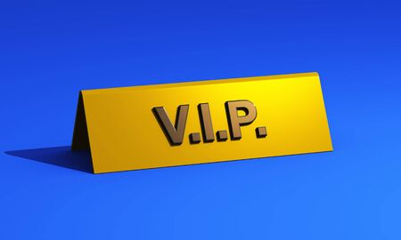 Premium VIP sign on blue carpet photo