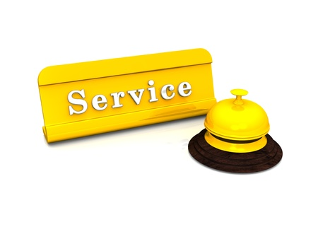 Service Concept - Gold on White photo