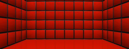 cuboid: 3D Room - Red Cubes