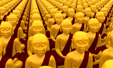 3d aum: Buddha Conference - Gold Red