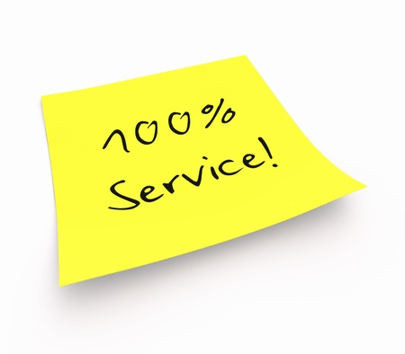 customercare: Stickies - 100 Service