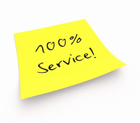 yellow thumbtacks: Stickies - 100 Service