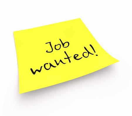 Stickies - job wanted photo
