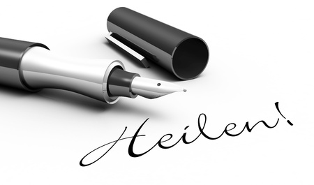 Healing - pen concept Stock Photo - 14769010