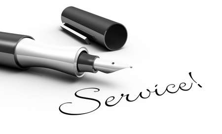 Service - pen concept photo