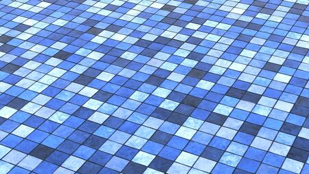 Background blue colored floor tiles photo