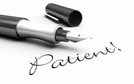 Patient - pencil concept Stock Photo - 14769283