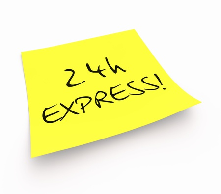 customercare: Yellow Sticky Note - 24 EXPRESS