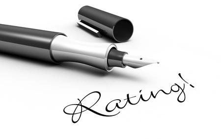Rating - pen concept photo