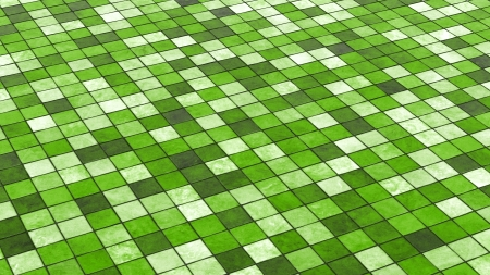 Green colored tiles background