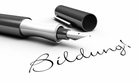 testimony: Education - pen concept