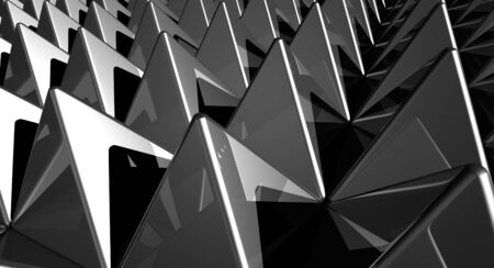 painted the cover illustration: Background - Matrix Pyramids Silver  Stock Photo