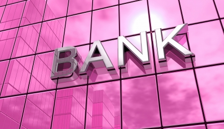 owe: Pink mirror house- Bank Concept