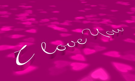 Pink design - I love You photo