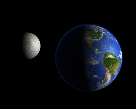 Planet and the moon - America photo