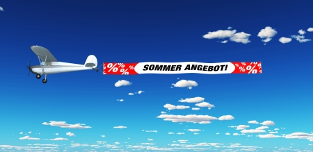 cheap: Air Marketing - Summer Special Stock Photo